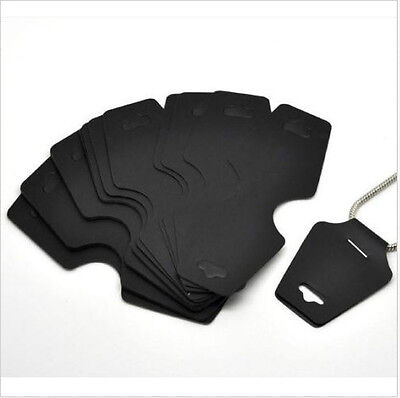 Free Ship 50pcs Black Necklace Jewelry Display Cards 11x4.5cm