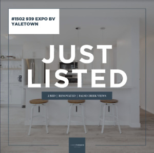 STUNNING 2 BED 881 SQF YALETOWN CONDO @ THE MAX W/WATER VIEWS