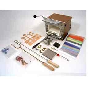 Enamelling Starter Kit Set & UHLIG U5 Electric Kiln Enamel Enamellers Glass -TE1