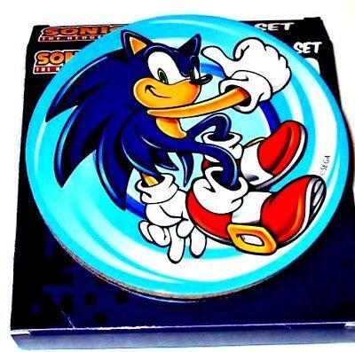 NEW Sega Sonic the Hedgehog 20th Anniversary Coasters 4 Pack Cork Backed 4x4