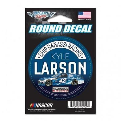 Kyle Larson  42 3  Credit One Round Decal 2018 Free Shipping Instock