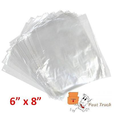 500 x CLEAR POLYTHENE PLASTIC FOOD APPROVED BAGS 6