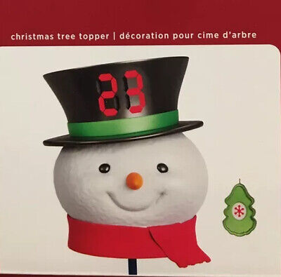 Cute 2020 Hallmark COUNTDOWN TO CHRISTMAS SNOWMAN TREE TOPPER !! New