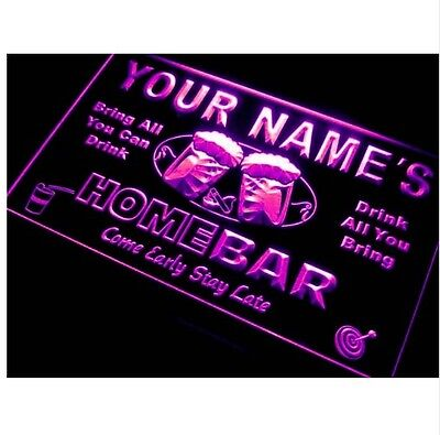 Name Personalized Custom Home Bar Beer Neon Light Sign Plastic