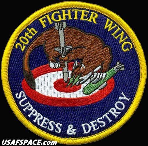 USAF 20th FIGHTER WING - SUPPRESS & DESTROY - F-16 -SHAW AFB- ORIGINAL VEL PATCH