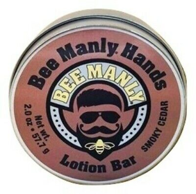 Bee Manly Hands Smoky Cedar Mens Bee Solid Lotion Bar Dry Skin Honey House Man