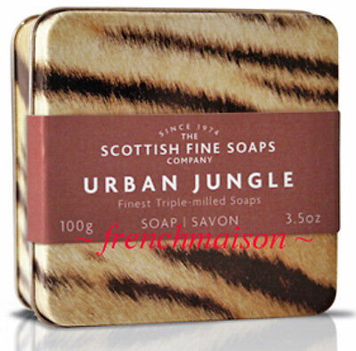 Scottish Fine Soaps Urban Junle Tiger Tin Gift Box Dad Him Men New Spicy Musk