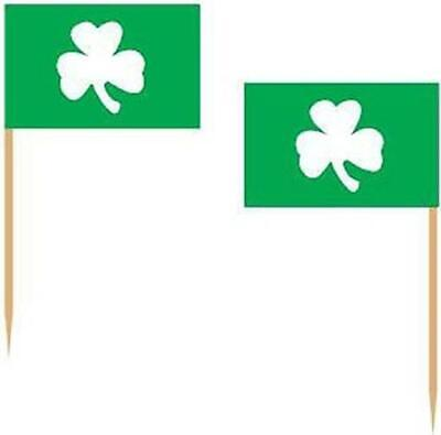 Shamrock 2.5-Inch Picks 50 Pack St Patrick's Day Decorations Party Supplies