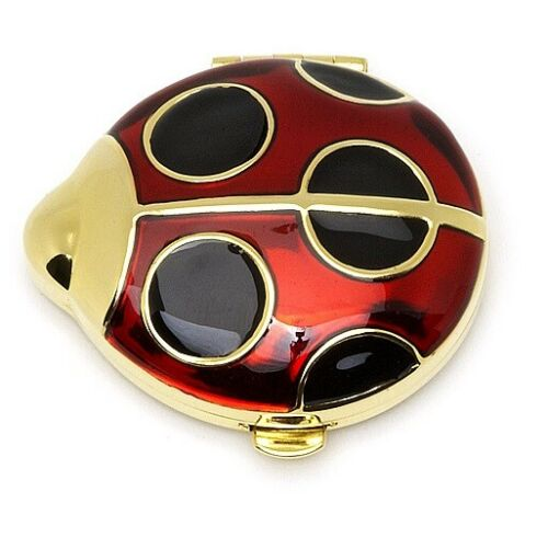 "Estee Lauder Powder Compact ""Lucky Ladybug"""" New in Both Boxes"