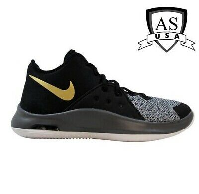 Men's Nike Air Versitile III 3 Basketball shoes AO4430 005 Black/ Gold-Dark Grey