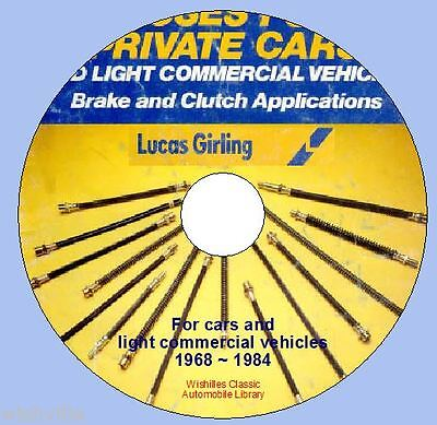 Information on Girling Brake & Clutch Hoses circa 1968 - 1984 DVD ROM