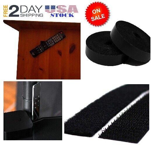 Hook Back Tape Strong Hook Loop 15'x3/4'' Black Velcro Brand