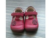 Clarks baby girl first shoes size 3H