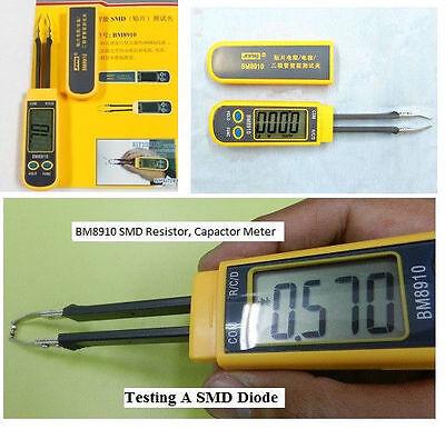 Smd Resistor Capacitor Diode Meter Tester Measure Resistance Capacitance -bm8910