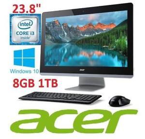 """REFURB ACER ASPIRE Z3 23.8"""" AIO PC AZ3-715-ES61 148019667 i3 6100T 1TB HDD 8GB Ram WIN 10 ALL IN ONE DESKTOP COMPUTER"""