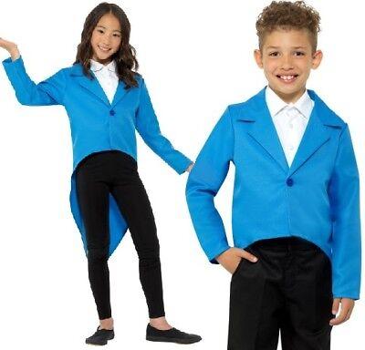 Kinder Kostüm Frack Blau Kinder Zirkusdirektor Schwanz Mantel von (Zirkusdirektor Mantel Kostüm)