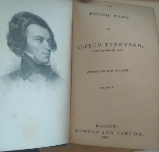 Vintage The Poetical Works Of ALFRED TENNYSON Volume 1 Antique Book 1866 - $0.99