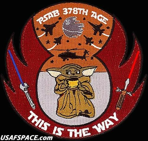 USAF 378TH EXPEDITIONARY MAINTENANCE SQ -Prince Sultan AB- ORIGINAL VEL PATCH