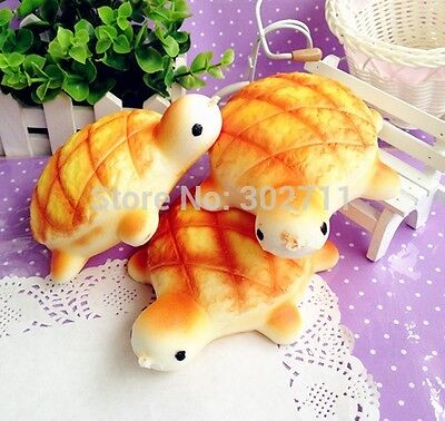 1 pc JUMBO TURTLE Squishy Charms Cellphone Bread Straps SUPER SOFT