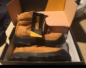 Brand new in box steel toe boots green patch size 11