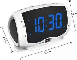 DreamSky Electronics Alarm Clock Radio for Bedrooms, FM Radio, Dual USB Charging
