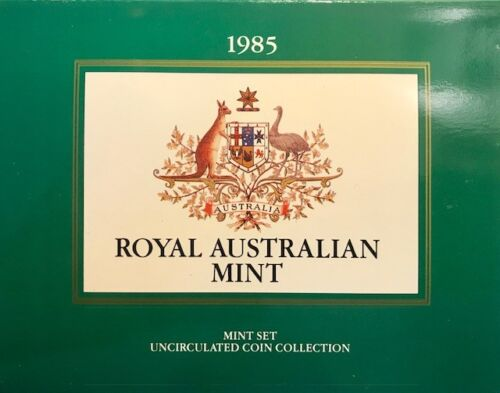 AUSTRALIA - Mint Set - Uncirculated (7) Coin Collection - 1985 - FREE SHIPPING!
