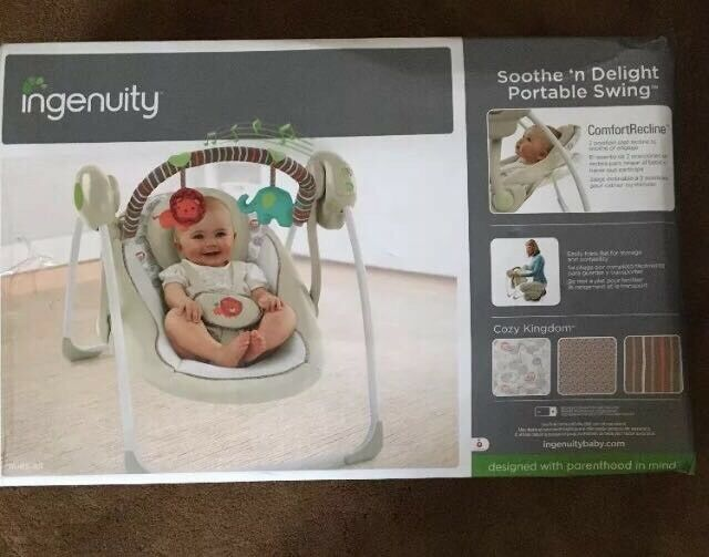 Ingenuity Cozy Kingdom Soothe 'n Delight Portable Swing