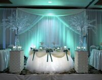 PRESSED, CLEAN CHAIR COVERS FOR RENT FOR AS LOW AS .99 CENTS