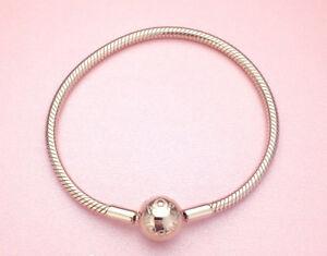 Genuine PANDORA Rose Gold Clasp Smooth Bracelet 580728 17cm 6.7