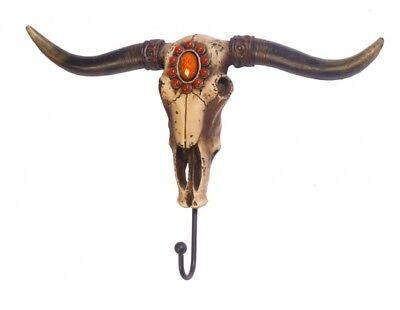 Deko Stier Skull, Stierschädel Kleiderhaken Garderobe Big Longhorn Büffel Texas  (Texas Longhorn Dekorationen)