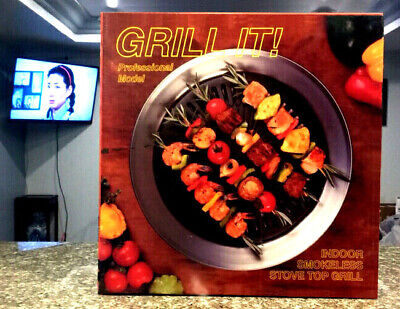 Grill It!  Indoor Smokeless Stove Top Grill Professional Model, Open Box - Clean for sale  Santa Ana