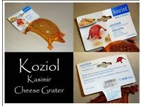 Koziol Kasimir Cheese Grater Orange BRAND NEW
