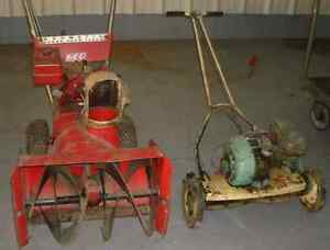 Absolutely free pick up Lawnmowers and snowblowers