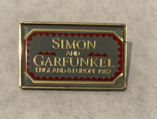 Simon and Garfunkel England and Europe Concert Tour Pin 1982 Vintage