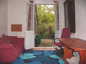 INDIVIDUAL room onto PATIO and WOODED GARDEN 100MB B.B. PARKING great facilities MIXED & friendly