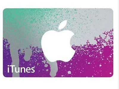 iTunes $25 Gift Card / Collectors/ gift present Purple/Aqua Silver-Orange/Blue for sale  Shipping to India