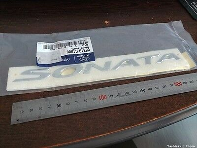 "Genuine 2015~ Hyundai ""Sonata"" Rear Trunk Script letters Emblem"