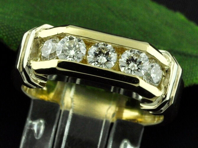 1.00 Ct 14k 2 Tone Gold  Men