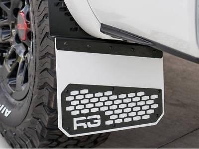 "Rek-Gen Off-Road Mud Flaps ""Rek-Mesh"" Black On White"