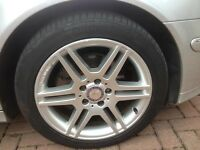 "mercedes w204 17"" alloys amg 4 with centre caps"