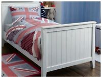 "Laura Ashley ""Harry"" Blue and Red Union Jack Cotton Duvet Set, with Cushion and Rug. RRP - £150"