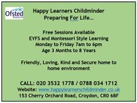Childminder/ Breakfast and Afterschool Club / FREE SESSIONS- Happy Learners Childminder