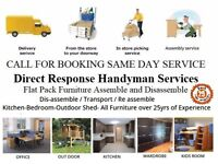 Flat Pack Furniture Assembly Transportation Removal Shifting Reassemble Handyman Property Maintenanc