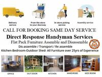 Flatpack furniture assembler collection delivery assembly house odd jobs repair handyman wiz big van