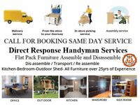 Flat Pack Furniture Builder Handyman House Odd Job Repairs IKEA Collection & Delivery Assembly S-day