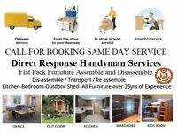 Flatpack Furniture Assembler Office furniture House Furniture Odd Job Repair Handyman with big Van