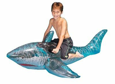 "Swimline 9045 72"" Swimming Pool Ride On Shark Float Inflatable Toy"