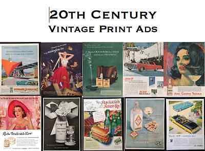 20th Century Vintage Print Ads