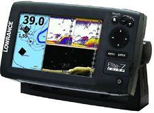 Lowrance Elite-7 CHIRP Fishfinder Marine GPS Chartplotter w/ XDCR 11665-001