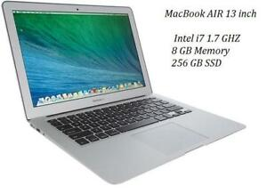 MACBOOK AIR 13 i7 1.7 GHZ 8GB RAM, 256GB SSD +OFFICE PRO 2016,MASTER SUITE DE ADOBE,LOGIC PRO X,FINAL CUT PRO X,